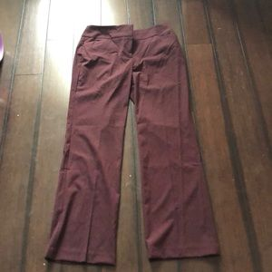 Maroon loft 4 curvy dress pants